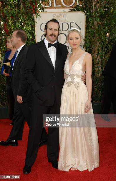 Jason Lee and Beth Riesgraf during The 63rd Annual Golden Globe Awards Arrivals at Beverly Hilton Hotel in Beverly Hills California United States