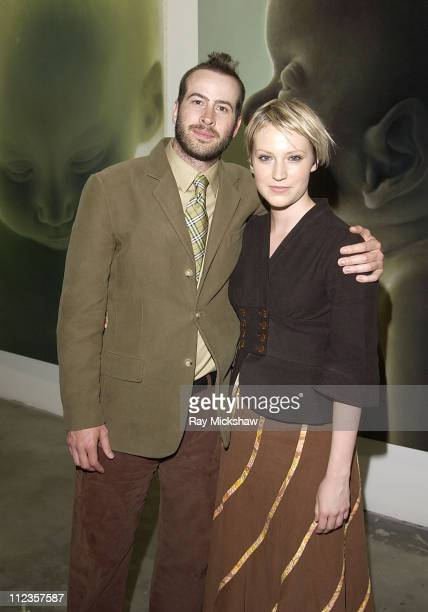 Jason Lee and Beth Riesgraf during The Jason Lee Foundation for the Arts and Smirnoff Ice Present Gottfried Helnwein at Helnwein Studio in Los...