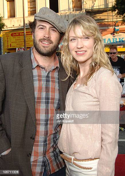 Jason Lee and Beth Riesgraf during War of the Worlds Los Angeles Premiere and Fan Screening Arrivals at Grauman's Chinese Theater in Los Angeles...