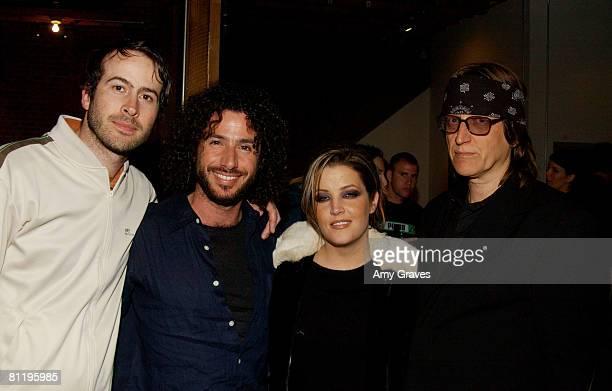 Jason Lee Meeno Lisa Marie Presley and Gottfried Helnwein