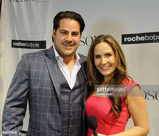 Jason Lembo Chief Executive Officer Hudson MOD and Amber Milt Fashion Editor attend the Grand Opening Celebration at Roche Bobois on February 4 2016...