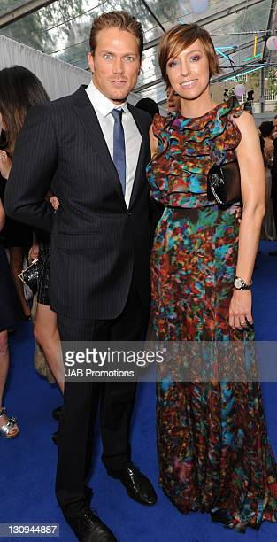 Jason Lewis and Jo Elvin attends the Glamour Women of the Year awards at Berkeley Square Gardens on June 8, 2010 in London, England.