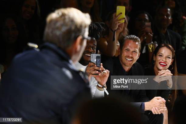 Jason Lewis and Liz Godwin attends the 2019 Laureus Fashion Show Gala during New York Fashion Week bringing together sport and fashion to shine a...