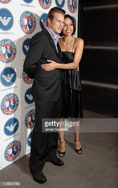 Jason Lewis and Rosario Dawson during Emporio Armani and Rosario Dawson Celebrate Voto Latino at Emporio Armani Boutique in New York City, New York,...