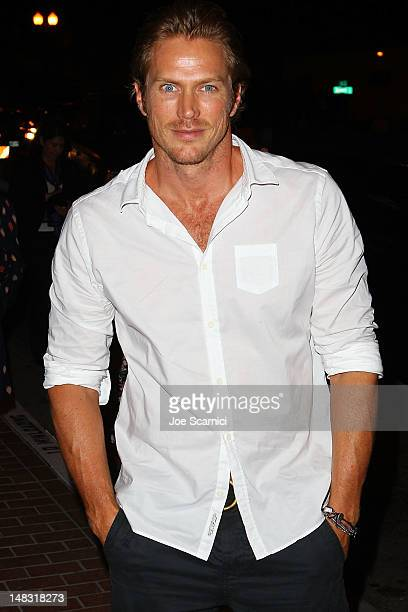 Jason Lewis arrives at the ComicCon International 2012 FX Maxim And Fox Home Entertainment Red Carpet Event at Andaz on July 13 2012 in San Diego...