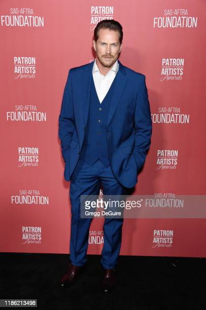 Jason Lewis attends SAGAFTRA Foundation's 4th Annual Patron of the Artists Awards at Wallis Annenberg Center for the Performing Arts on November 07...