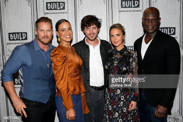 Jason Lewis Parisa FitzHenley François Arnaud Arielle Kebbel and Peter Mensah attend the Build Series to discuss Midnight Texas at Build Studio on...