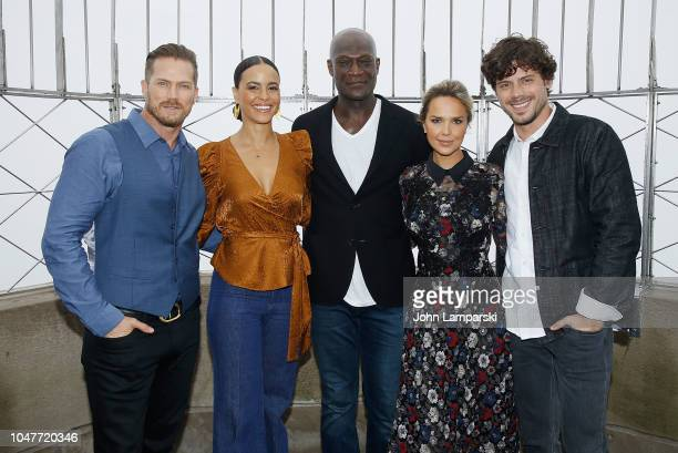 Jason Lewis Parisa FitzHenley Peter Mensah Arielle Kebbel and Francois Arnaud visit as Empire State Building hosts the cast Of NBC's 'Midnight Texas'...