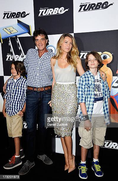 Jason Lively and Blake Lively attend the Turbo New York Premiere at AMC Loews Lincoln Square on July 9 2013 in New York City
