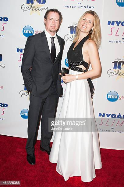 Jason London and guest arrive at The Norby Walters 25th Annual Night of 100 Stars Oscar Viewing Gala at The Beverly Hilton Hotel on February 22 2015...