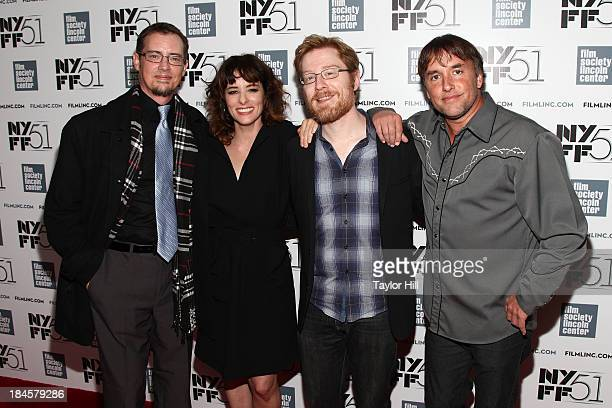 Jason London Parker Posey Anthony Rapp and Richard Linklater attend the 'Dazed And Confused' 20th anniversary during the 51st New York Film Festival...
