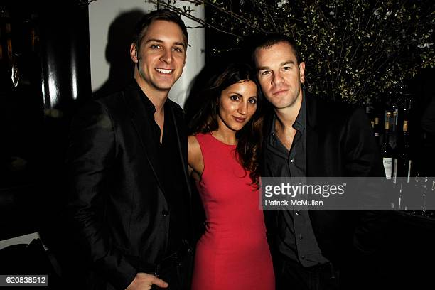 Jason Lord Basoula Barbargiannis and Josh Reed attend THE CINEMA SOCIETY and CALVIN KLEIN JEANS Host the After Party for '21' at The Mercer Kitchen...