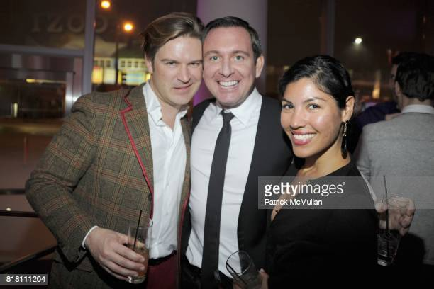 Jason Lundy Chris Wile and Argelia PimientaHadrovic attend OUT 100 Presented by BUICK at IAC Building on November 18 2010 in New York City