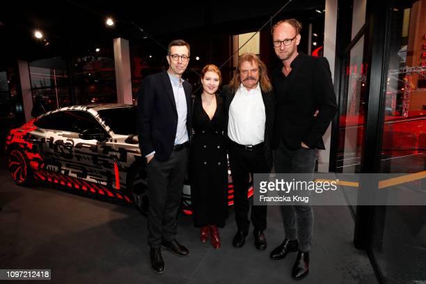 Jason Lusty Lara Mandoki Leslie Mandoki and Marc Lichte at the Audi Berlinale Brunch during the 69th Berlinale International Film Festival at...