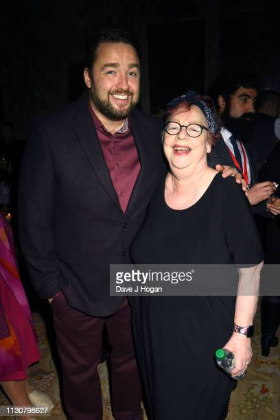 Jason Manford and Jo Brand attend the after party following the opening night of Only Fools and Horses The Musical at Theatre Royal Haymarket on...