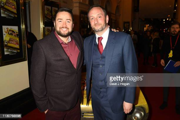 Jason Manford and Steve Edge attend the opening night of Only Fools and Horses The Musical at Theatre Royal Haymarket on February 19 2019 in London...