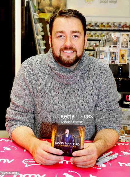 Jason Manford meets fans and signs copies of his debut album 'A Different Stage' at HMV Manchester on October 8 2017 in Manchester England