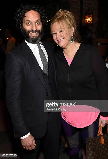 Jason Mantzoukas and Caroline Rhea attend the after party for the New York premiere of How To Be Single at the Bowery Hotel on February 3 2016 in New...