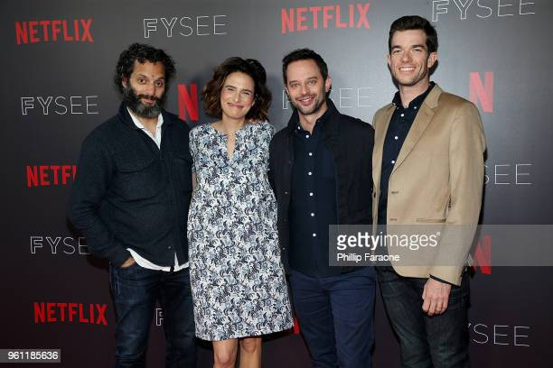 Jason Mantzoukas Jessi Klein Nick Kroll and John Mulaney attend the #NETFLIXFYSEE Animation Panel Featuring Big Mouth and BoJack Horseman at Netflix...