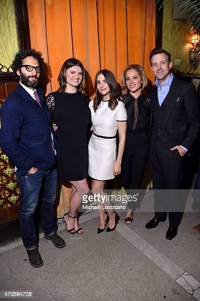 Jason Mantzoukas Leslye Headland Alison Brie Margarita Levieva and Jason Sudeikis attend the 2015 Tribeca Film Festival After Party for 'Sleeping...