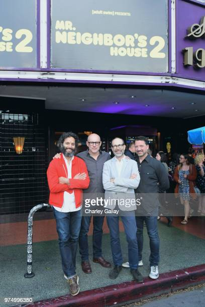 Jason Mantzoukas Rob Corddry Brian Huskey and Jesse Falcon attend 'Mr Neighbor's House 2' Los Angeles screening presented by Adult Swim at Los Feliz...
