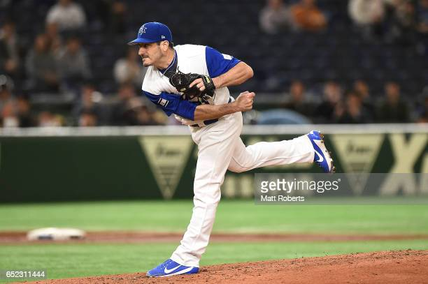 Jason Marquis of Israel pitches in the second inning during the World Baseball Classic Pool E Game One between Cuba and Israel at Tokyo Dome on March...