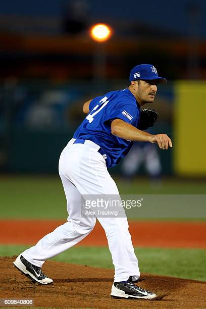 Jason Marquis of Team Israel pitches in the first inning during Game 2 of the 2016 World Baseball Classic Qualifier at MCU Park on Thursday September...