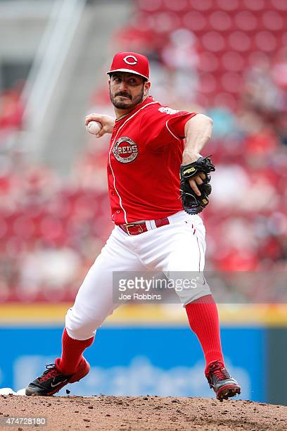 Jason Marquis of the Cincinnati Reds pitches in the second inning of the game against the Colorado Rockies at Great American Ball Park on May 25 2015...