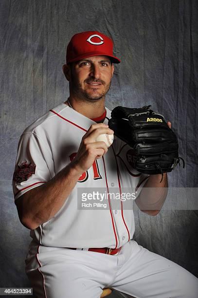 Jason Marquis of the Cincinnati Reds poses for a portrait during Photo Day on February 26 2015 at Goodyear Ballpark in Goodyear Arizona