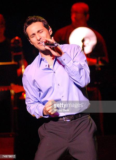 Jason Martinez performs with Frankie Valli and The Four Seasons on stage at the Mountain Laurel Center on June 30 2007 in Bushkill Falls Pennsylvania