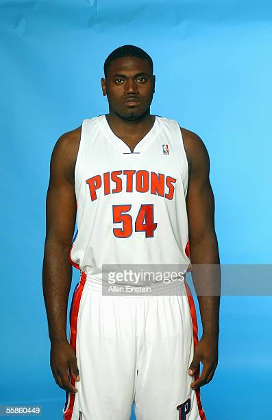 Jason Maxiell of the Detroit Pistons poses for a portrait during the Pistons Media Day on October 3 2005 in Auburn Hills Michigan NOTE TO USER User...