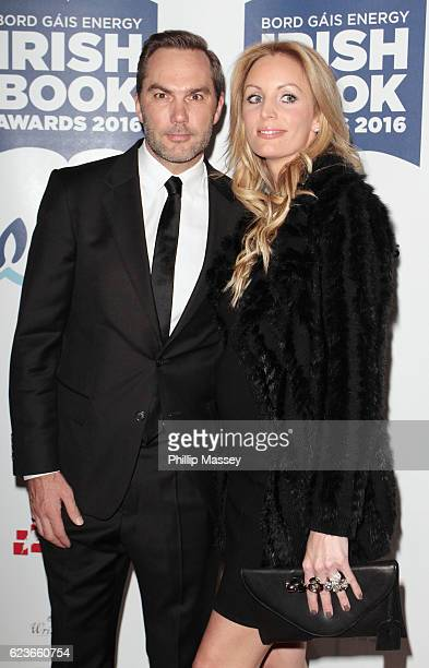 Jason McAteer and Lucy Edwards attend the Bord Gais Energy Irish Book Awards at Double Tree Hilton Hotel on November 16 2016 in Dublin Ireland
