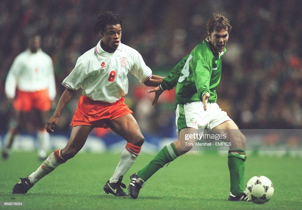 Euro'96 Qualifier Eire v. The Netherlands : News Photo