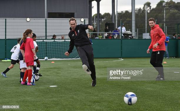Jason Mcateer legend of Liverpool during a coaching session on May 20 2017 in Sydney Australia