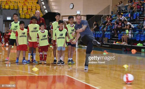 Jason Mcateer legend of Liverpool during a soccer school on July 18 2017 in Hong Kong Hong Kong