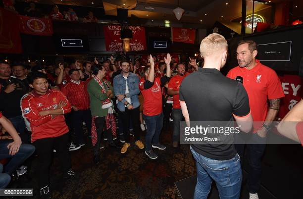 Jason McAteer legend of Liverpool during a viewing party of the Premier League match between Liveprool and Middlesbrough at Cheers Bar on May 21 2017...