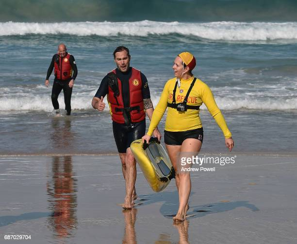 Jason McAteer legend of Liverpool during a visit to Bondi Beach on May 23 2017 in Sydney Australia