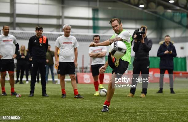 Jason McAteer Liverpool Legend during a training session at Liverpool FC Academy on March 13 2017 in Kirkby England