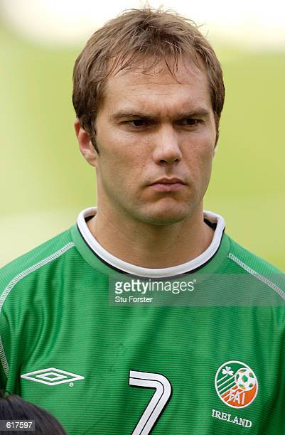 Jason McAteer of Ireland during the 2002 FIFA World Cup First Round Group E match between the Republic of Ireland v Cameroon played at the Niigtata...