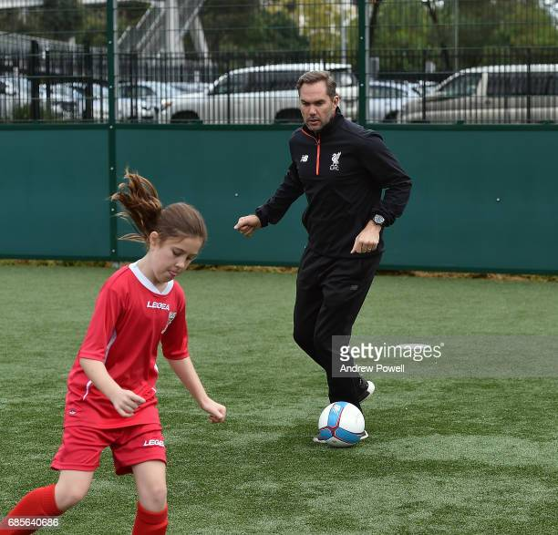 Jason Mcateer of Liverpool during a coaching session on May 20 2017 in Sydney Australia