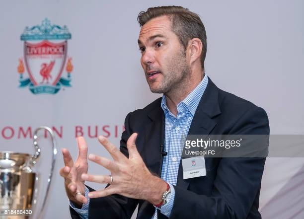 Jason McAteer talks during Liverpool FC's Bootroom in Business at The Upper House on July 18 2017 in Hong Kong Hong Kong