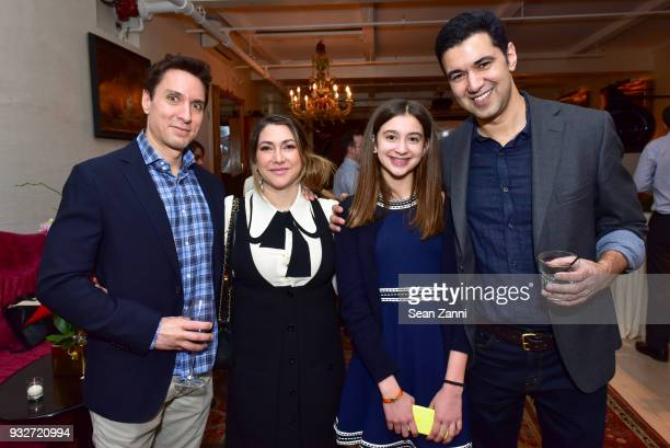 Jason McCarthy Newsha McCarthy Lily Babu and Author Chris Babu attend 'The Initiation' Book Launch at Bouley TK on March 15 2018 in New York City