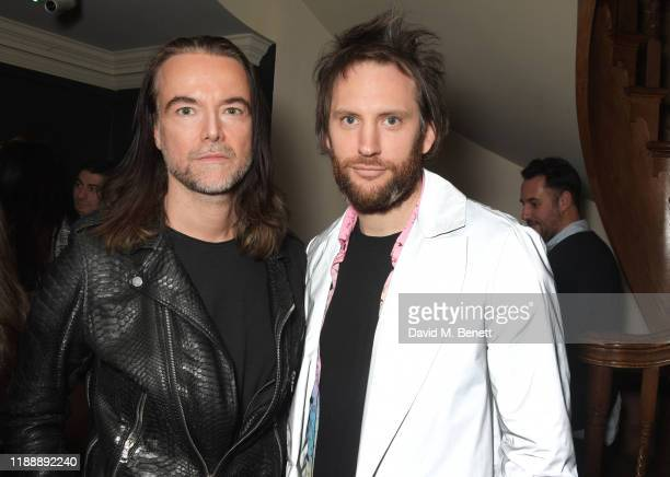 Jason McNab and Marc JacquesBurton attend the Flaunt Magazine and Dunhill party celebrating 'The Voyage Issue' honouring Orlando Bloom at Bourdon...
