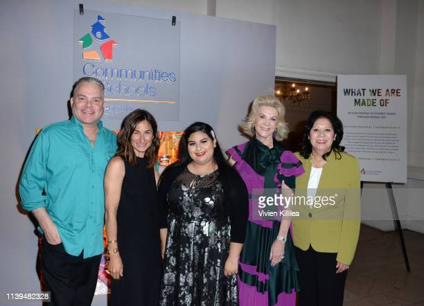 Jason Mecier Executive Director of Communities In Schools of Los Angeles Deborah Marcus Anais Hernandez Elaine Wynn and LA County Supervisor Hilda...
