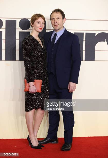 Jason Merrells and Emma Lowndes attend the Military Wives UK Premiere at Cineworld Leicester Square on February 24 2020 in London England