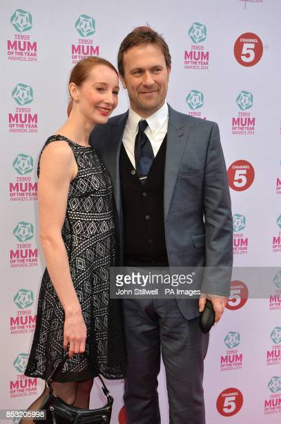 Jason Merrells and guest arriving at Tesco Mum of the Year Awards celebrating Britain's most inspirational mothers at The Savoy Hotel Strand in...