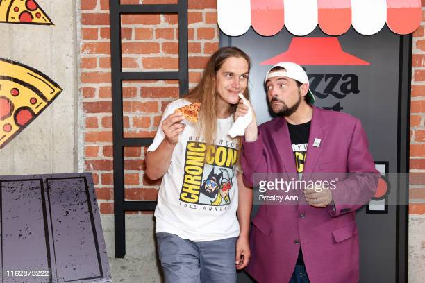 Jason Mewes and Kevin Smith of 'Jay and Silent Bob' attend the Pizza Hut Lounge at 2019 Comic-Con International: San Diego on July 18, 2019 in San...