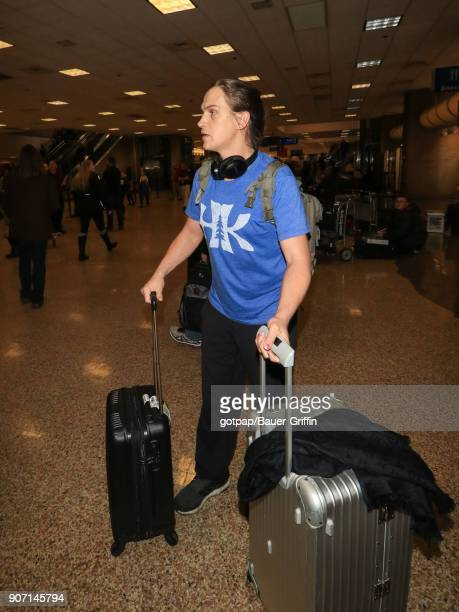 Jason Mewes is seen at Salt Lake City International Airport on January 18 2018 in Park City Utah