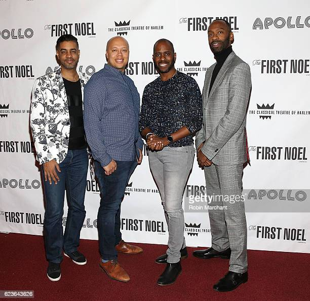 Jason Michael Webb Lelund Durond Thompson Steve H Broadnax III and Brian Harlan Brooks attend 'The First Noel' Sneak Peek at The Apollo Theater on...