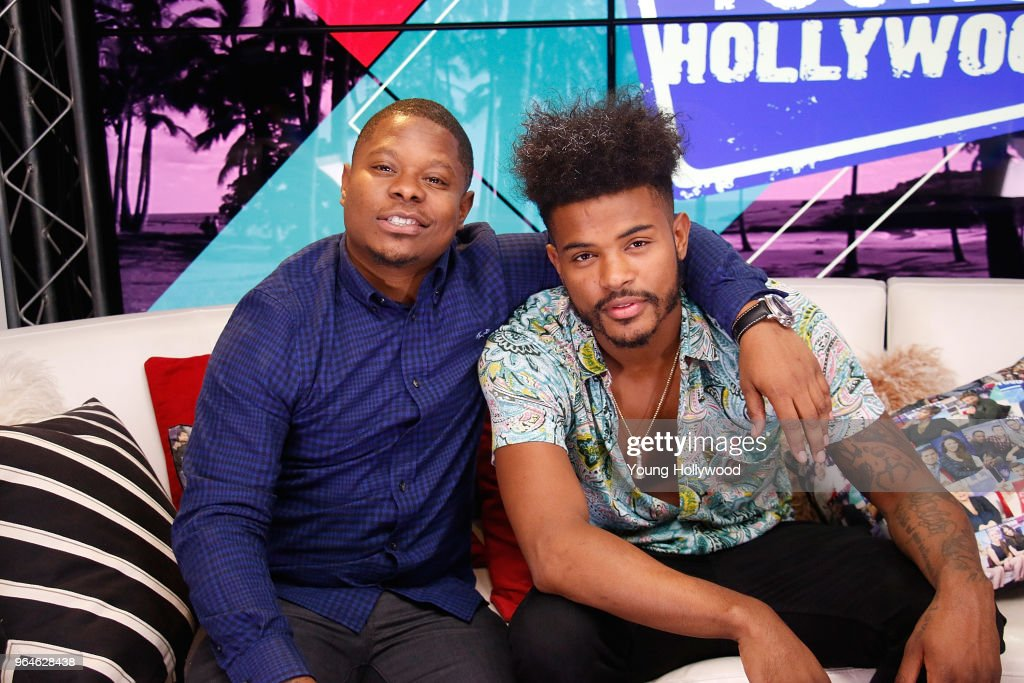 aef77af0918 Trevor Jackson and Jason Mitchell Visit Young Hollywood Studio   News Photo